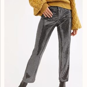 NWT Free People Shine On Sequin Trouser Size 4